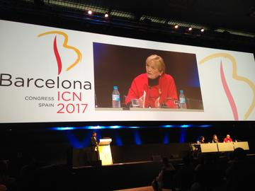 Shellian on panel at ICN Congress held in Barcelona, Spain in 2017.