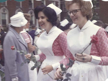 Diana Mansell at 1963 graduation from Ottawa Civic Hospital where there was a classmate graduation parade.