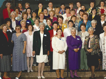 Diana Mansell (bottom left, front row) at her 35th class reunion from Ottawa Civic Hospital.