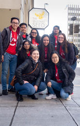 Students take part in ucalgarycares Homelessness at Home program.