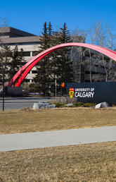Spring on University of Calgary campus