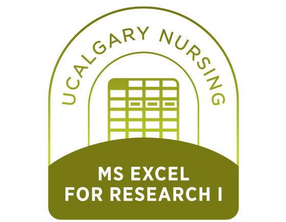 MS Excel for Research I