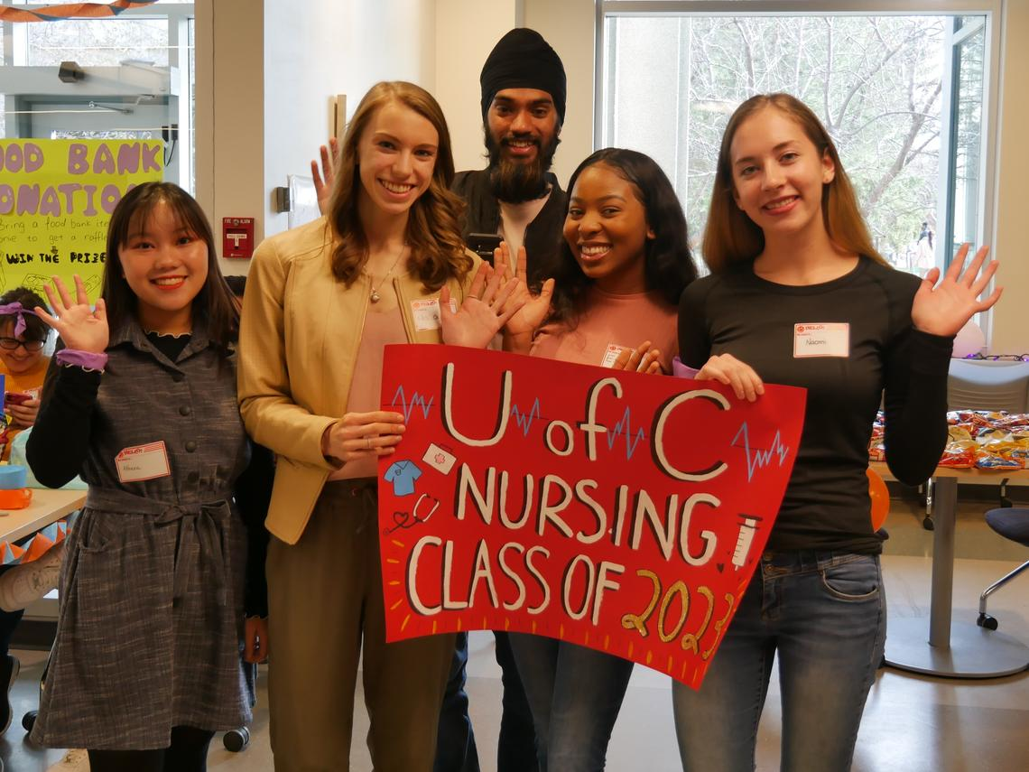 First-year nursing students at the Fall 2019 YO Semester Kick-off event.