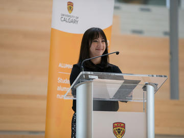 Kate Wong, BN'12, Faculty of Nursing Alumni Committee president says staying connected to UCalgary as an alumnus has given her a community of nurses.