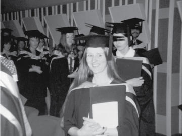 The first Bachelor of Nursing class graduates from the program at the University of Calgary in 1974.