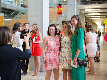 Students celebrate completion of their nursing programs.