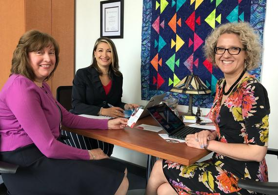UCalgary Nursing's Shelley Raffin Bouchal, left, Leda Stawnychko and Sandra Davidson.